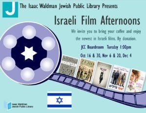 Israeli Film Afternoons @ Waldman Library @ Waldman Library, JCC | Vancouver | British Columbia | Canada