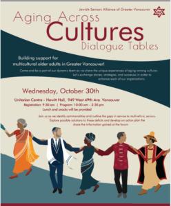 AGING ACROSS CULTURES DIALOGUE TABLES @ Unitarian Centre, Hewitt Hall, Jewish Seniors Alliance | Vancouver | British Columbia | Canada