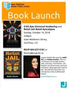 "Book Launch: Jasper Kastiel, ""G-d's Eye: Universal Awakening"" @ Waldman Library @ JCC | Vancouver | British Columbia | Canada"
