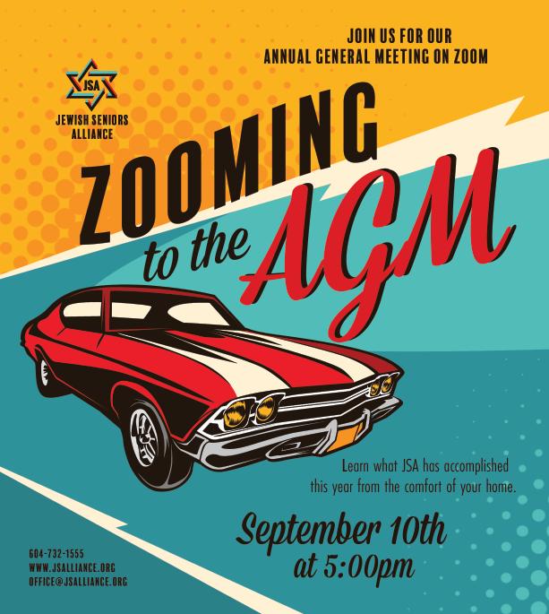 Jewish Seniors Alliance Annual General Meeting @ Zoom