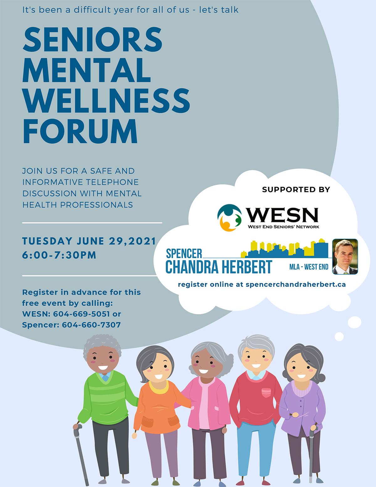 WESN: Seniors Mental Wellness Forum @ Zoom